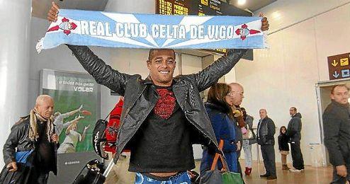 Welliton, a su llegada a Vigo cuando fichó por el Celta.