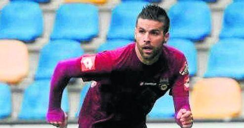 David Feito, con la camiseta del Pontevedra.