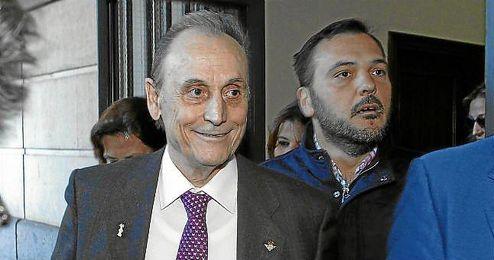 Manuel Ruiz de Lopera, a la salida de los juzgados de Sevilla.