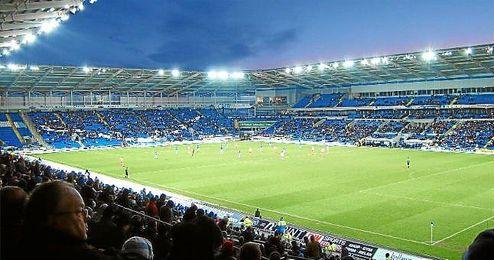 Imagen de las gradas del Cardiff City Stadium, donde se disputará la final de la Supercopa de Europa.