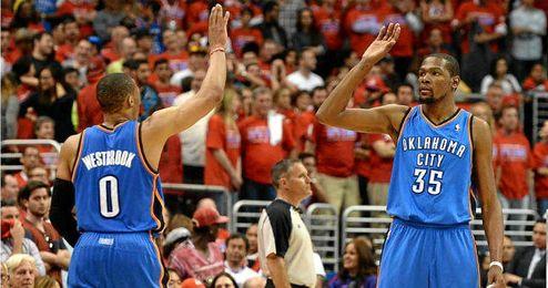 Durant y Westbrook se mostraron intratables durante toda la serie.