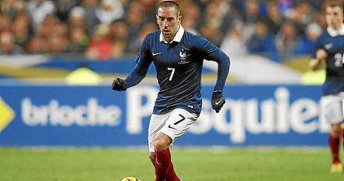 Ribéry, en un partido con la selección francesa.