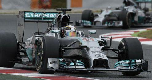 El piloto británico, Lewis Hamilton, sigue dando muestras de la superioridad de su monoplaza.