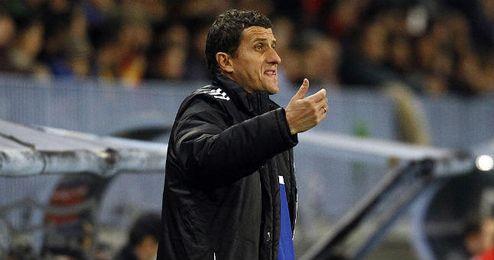 Gracia, durante un partido con el Osasuna.