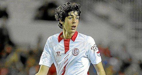 Carlos Fernández durante el Sevilla-Real Sociedad.