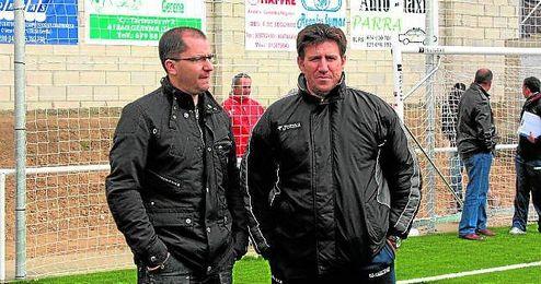 En la imagen, José Juan Romero y Diego Román, el día de la inauguración del actual feudo gerenense.