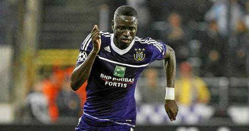 Kouyaté, durante un partido con el Anderlecht.