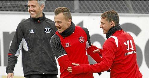 Cheryshev, en un entrenamiento con el Sevilla.