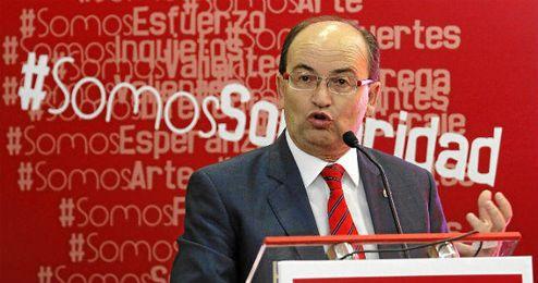 José Castro durante la presentación de la campaña de abonados