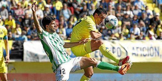 Didac Vilà, en un encuentro entre el Villarreal y el Betis.