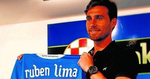 Rúben Lima, el día de su presentación con el Dinamo de Zagreb.
