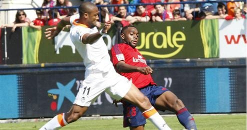 Loé la pasada temporada en el partido que enfrentó al Osasuna y al Valencia en el Reyno de Navarra.