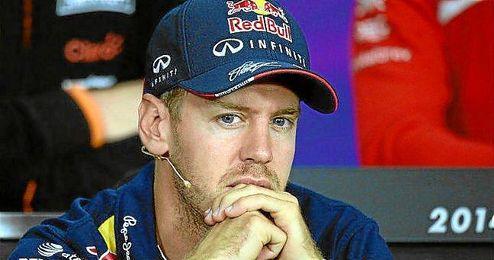 Vettel, durante una rueda de prensa en Suzuka.