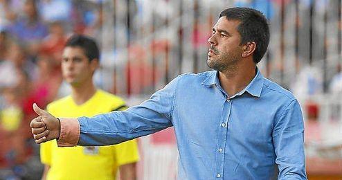 Cosmin Contra durante el Sevilla-Getafe de la presente temporada.