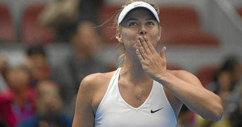 Maria Sharapova feliz tras la victoria
