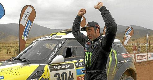 Nani Roma en la última etapa del Rally Dakar de este año.