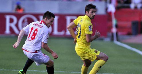 ´Cani´ en el partido que el Villarreal disputó ante el Sevilla.
