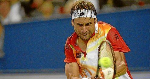 Ferrer en su partido ante Djokovic.