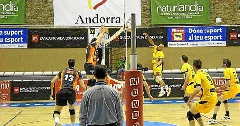El CV Andorra en un partido la pasada temporada.
