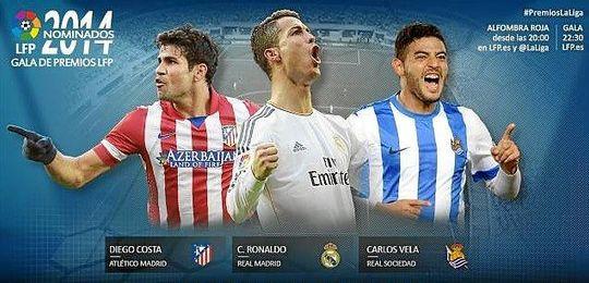 Diego Costa, Ronaldo y Vela, los candidatos.