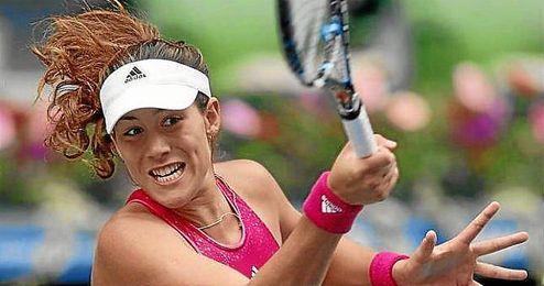 Garbiñe Muguruza en el pasado torneo de Tokyo.