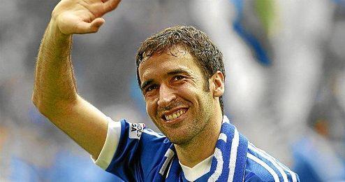 Raúl en su etapa en el Schalke 04.