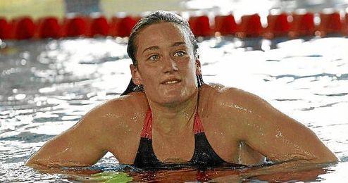 La nadadora hizo un tiempo de 8.10.88.