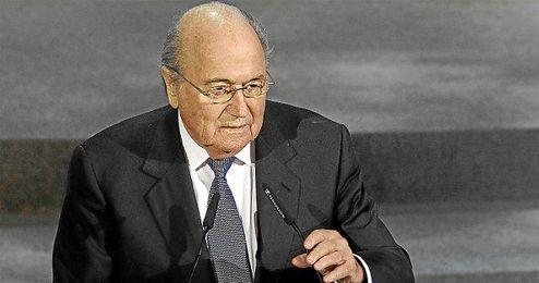 Blatter en un acto la pasada Copa Confederaciones