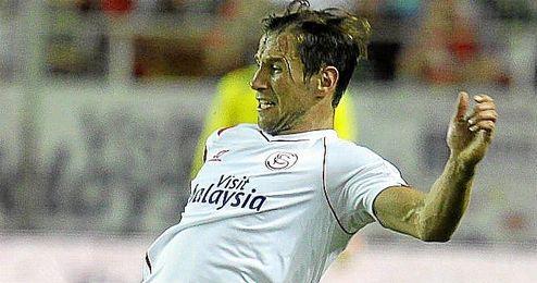 Krychowiak durante un partido liguero de la presente temporada.