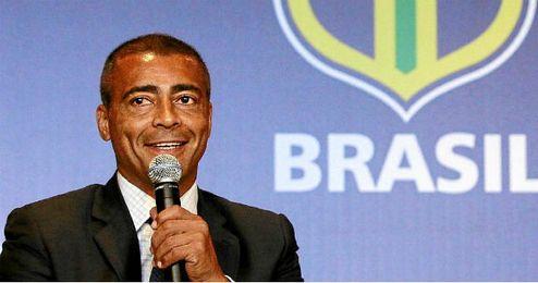 Romario en un acto de la federación brasileña de fútbol.