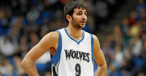 Ricky en un partido con los Timberwolves.