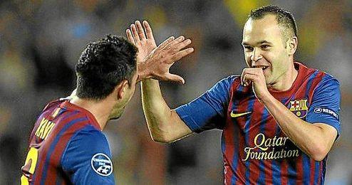 Iniesta y Xavi eran fijos hasta esta temporadas.
