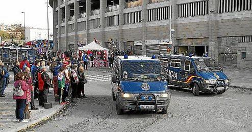 La Policía no tenía constancia de la citación entre ultras