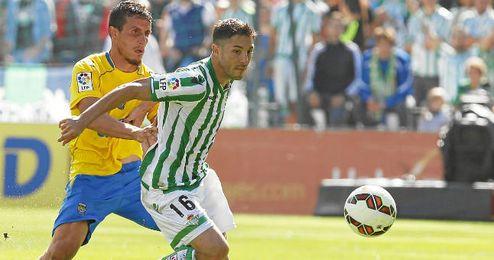 Cejudo en el partido ante Las Palmas