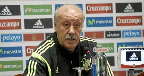 Vicente Del Bosque condenó los hechos acontecidos el pasado domingo en Madrid.