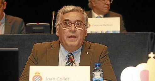El presidente del RCD Espayol en Junta General de Accionistas del club