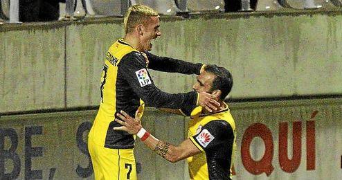 Griezmann celebra el gol contra el ´Hospi´