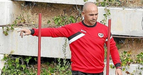 Paco Jémez, durante un entrenamiento.