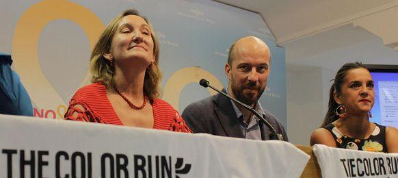 María del Mar Sánchez Estrella, concejal de Deportes del Ayuntamiento de Sevilla en la presentación The Colour Run