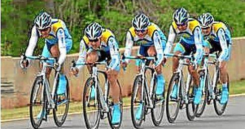 Equipo de ciclismo Astana. Giro d´Italia