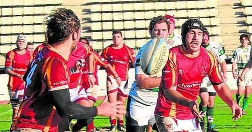 El Helvetia Rugby, en el partido disputado ante el Tasman Boadilla.