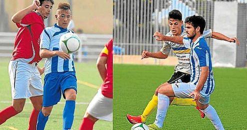 El nervionense Francisco Javier Rodríguez López ´Cisco´ (izquierda) y el rinconero Molina serán dos de los jugadores a seguir en el Nervión-Rinconada.