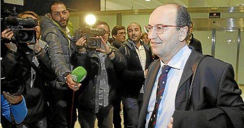 José Castro, en una salida del Sevilla para duelo europeo.