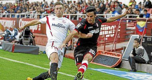 Deulofeu, ante el Granada, jugará con Cataluña junto a Aleix Vidal.
