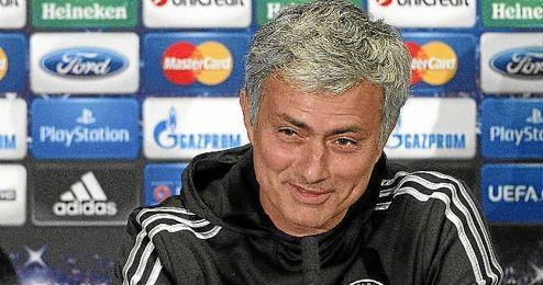 Mourinho durante una comparecencia en la sala de prensa.