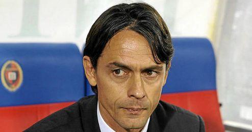 Inzaghi dirige el banquillo milanista.