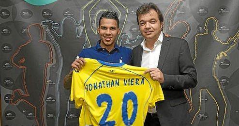 Jonathan Viera, en su presentación con la UD Las Palmas.