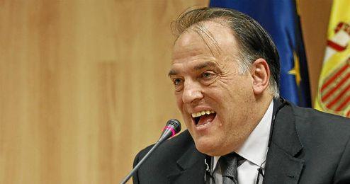 Tebas, presidente de la LFP.