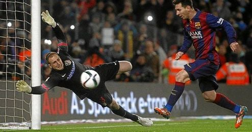 Messi hizo el tanto de la victoria.
