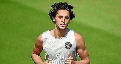 Rabiot en un entrenamiento con el club parisino.